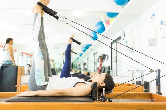 Pilates reformer group class